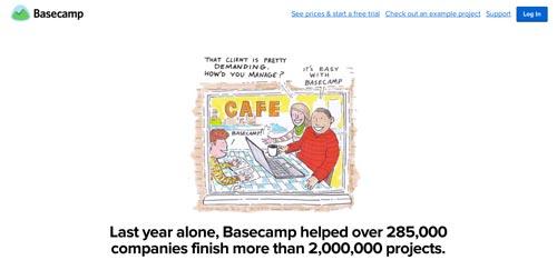 Servicios de gestión de proyectos colaborativos: Basecamp