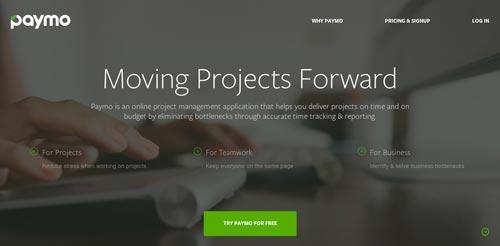 Servicios de gestión de proyectos colaborativos: Paymo