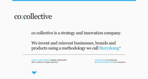 Sitios web con un excelente diseño minimalista: Co Collective