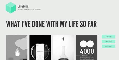 Sitios web con un excelente diseño minimalista: Linda Dong