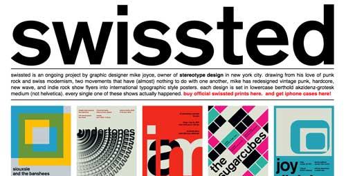 Sitios web con un excelente diseño minimalista: Swissted