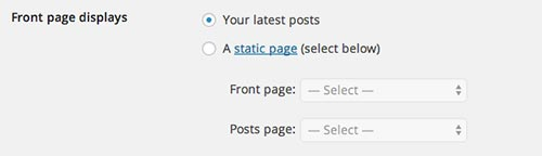 Tareas que debes realizar después de instalar WordPress: Cambiar opciones de lectura