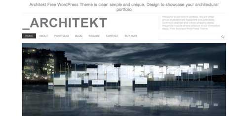 Temas WordPress gratuitos para portafolios online: _Architekt