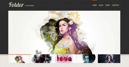 Temas WordPress gratuitos para portafolios online: Folder