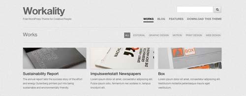 Temas WordPress gratuitos para portafolios online: Workality