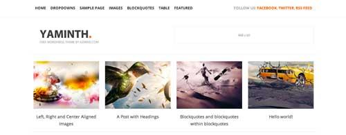 Temas WordPress gratuitos para portafolios online: Yaminth