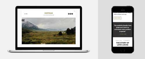 Temas WordPress sencillos: Hoffman