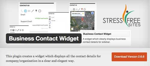 Widget WordPress populares para blog: Business Contact