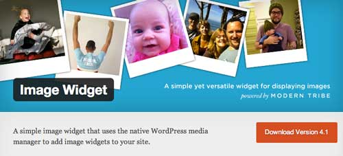 Widget WordPress populares para blog: Image Widget
