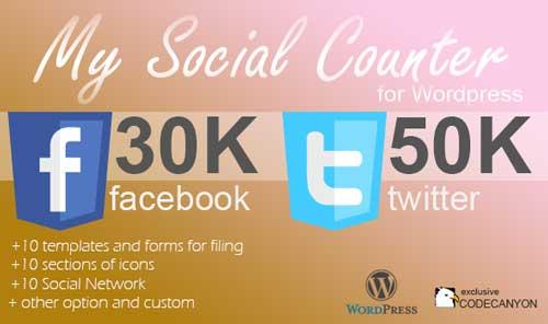 Widget WordPress populares para blog: My Social Counter