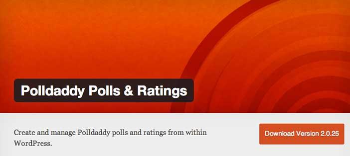 Widget WordPress populares para blog: Polldaddy Polls & Rating