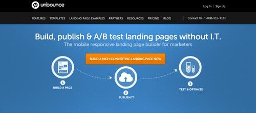 Herramientas para realizar el AB Testing: Unbounce