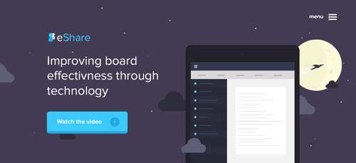 Conceptos de página con estilo flat web design: eShare