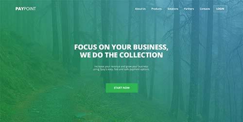 Conceptos de página con estilo flat web design: PayPoint