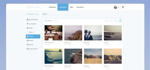 Conceptos de página con estilo flat web design: Photo & Video Page