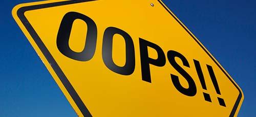 Consejos para redacción de texto en tu página de producto: Mensajes de error