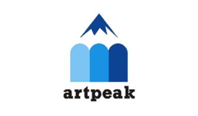 Diseño de logos que hacen uso efectivo de los espacios en blanco: Art Peak