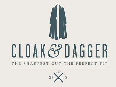 Diseño de logos que hacen uso efectivo de los espacios en blanco: Cloak & Dagger