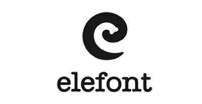Diseño de logos que hacen uso efectivo de los espacios en blanco: Elefont