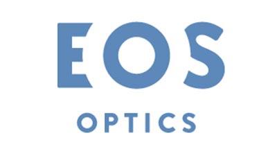Diseño de logos que hacen uso efectivo de los espacios en blanco: EOS Optics