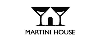 Diseño de logos que hacen uso efectivo de los espacios en blanco: Martini House