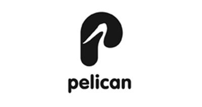 Diseño de logos que hacen uso efectivo de los espacios en blanco: Pelican