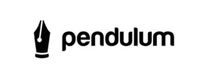 Diseño de logos que hacen uso efectivo de los espacios en blanco: Pendulum