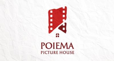Diseño de logos que hacen uso efectivo de los espacios en blanco: Poiema Picture House