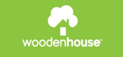 Diseño de logos que hacen uso efectivo de los espacios en blanco: Wooden House