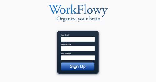 Herramientas de bajo costo para mejorar productividad laboral: Workflowy