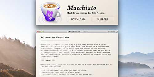 Lista de Markdown Editor: Macchiato