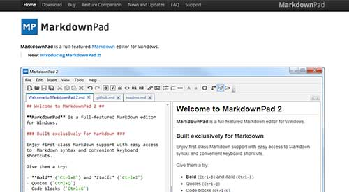 Lista de Markdown Editor: MarkdownPad