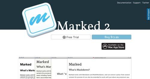 Lista de Markdown Editor: Marked