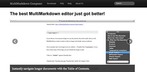 Lista de Markdown Editor: MultiMarkdown Composer