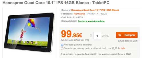 Las mejores ofertas del Cyber Monday: Tablet Hannspree