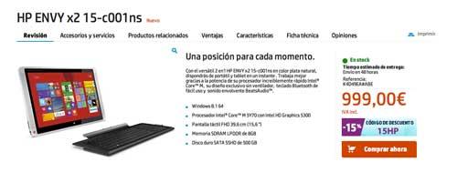 Las mejores ofertas del Cyber Monday: HP Envy X2