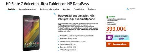 Las mejores ofertas del Cyber Monday: Tablet HP Slate