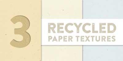 Paquetes de texturas gratis: 3 Recycled Paper