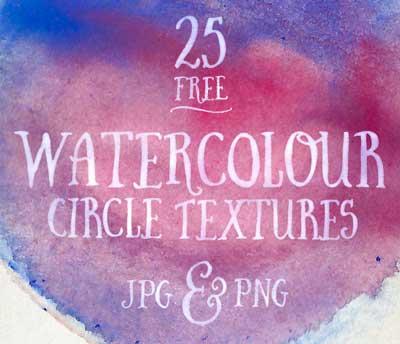 Paquetes de texturas gratis: Watercolour Circles