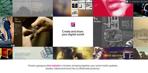 Servicios para crear sitio web: Flavors.me