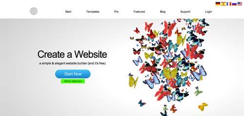 Servicios para crear sitio web: imCreator