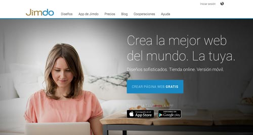 Servicios para crear sitio web: Jimdo