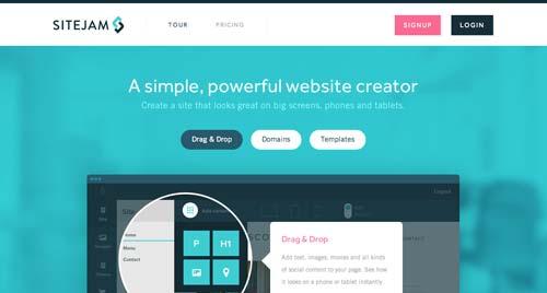 Servicios para crear sitio web: Sitejam
