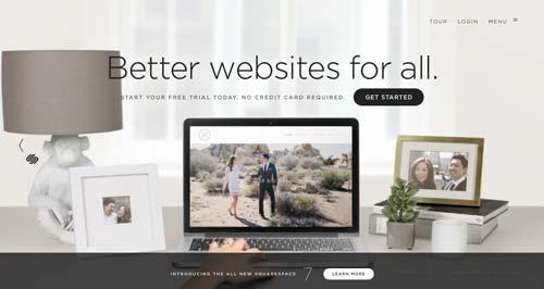 Servicios para crear sitio web: Squarespace