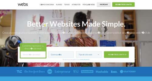 Servicios para crear sitio web: Webs