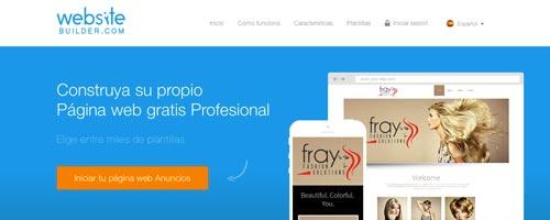 Servicios para crear sitio web: Website Builder
