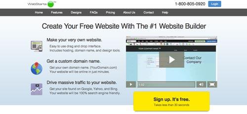 Servicios para crear sitio web: Webstarts