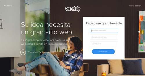 Servicios para crear sitio web: Weebly