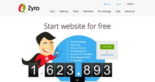 Servicios para crear sitio web: Zyro