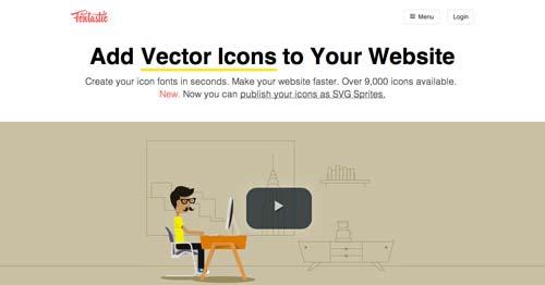 Sitios web donde descargar iconos en formato SVG: Fontastic